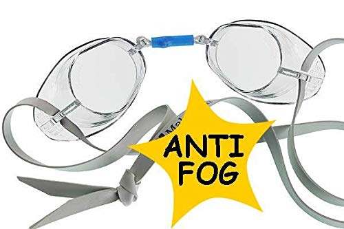 Malmsten - Gafas de natación unisex, antivaho, verano, Gafas suecas antivaho., Unisex adulto, color transparente, tamaño talla única