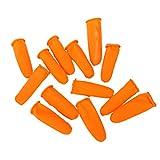 EXCEART 1 Set di Lettini Monouso in Lattice Copri Dita Copri Dita in Gomma Protezioni Copri Dita Antistatici Taglia L Arancione (300G)