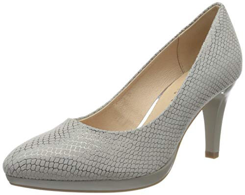 Caprice Damen ASHLEY Pumps, Grau (Lt Grey Snake 255), 37 EU