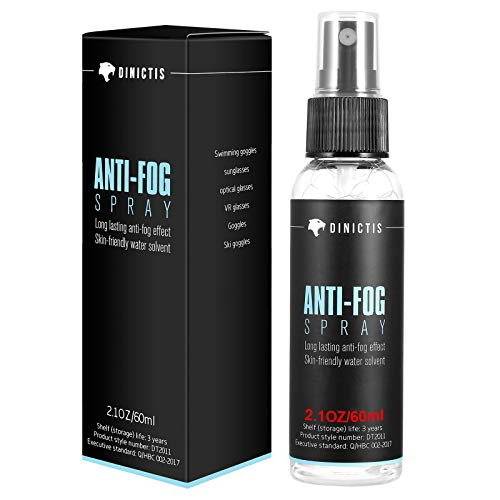 Dinictis Anti-Fog Spray for Glasses (2oz), Safe and Long-Lasting Defogger, Prevent Fogging of Glasses, Swimming Goggles, VR Glasses, Sunglasses, Ski Goggles, Windows and Mirrors