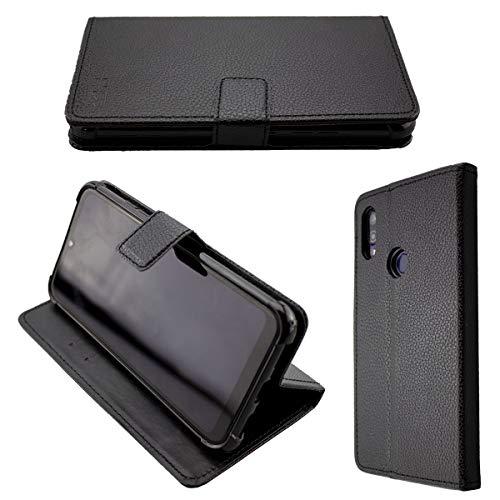 caseroxx Handy Hülle Tasche kompatibel mit Gigaset GS190 Bookstyle-Hülle Wallet Hülle in schwarz
