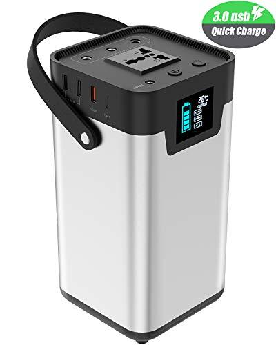 Tragbarer Generator X-DRAGON 200Wh 54000mAh Stromerzeuger Mit 220V/200W (Peak 250W) Batterie Power Station für Den Outdoor, Camping, Auto, Emergency