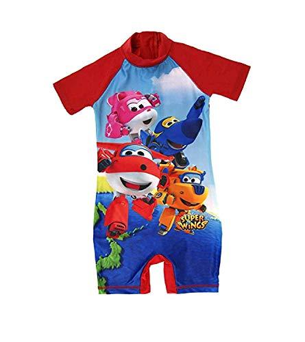 Gelicentieerde Kinderen/Kinderen Super Wings Zwemmen Kostuum Surf Suit Jongens Zwemkleding Leeftijd 18 Maanden-5 Jaar