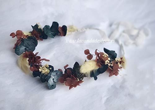 Corona tocado eucalipto otoño