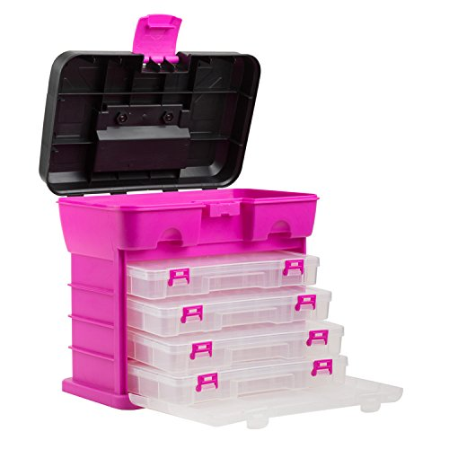 Pink Tool Box Organizer, Multi Compartment Pink Organizer