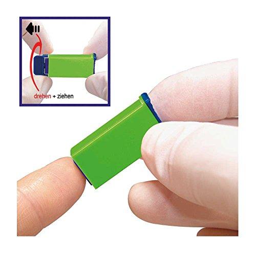 100xSterilance Press II Sicherheitslanzetten Lanzetten Stechhilfe 18Gx1,8mm grün