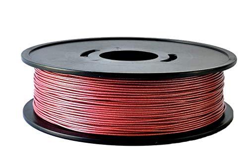 ARIANEPLAST Filamento PLA – Materiali di stampa 3D, 1,75 mm, 2,3 kg, prodotto di qualità e certificato – Fabbricazione francese – Rosso metallizzato