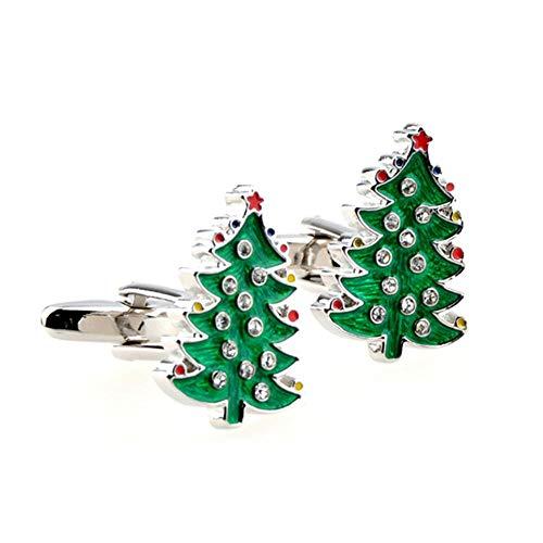 Douzxc Kerst Groene Ruit Kerstboomkristal Kerstmanchetten