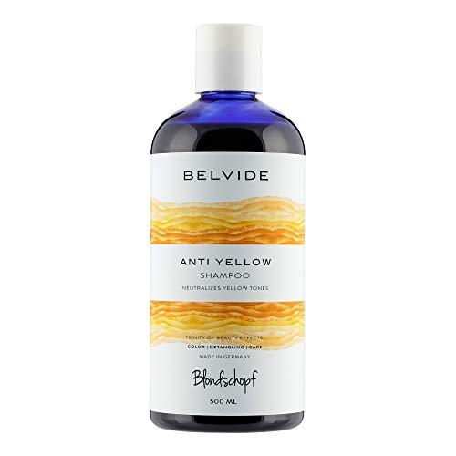 Blondschopf Anti-Yellow Shampoo 500ml |Silbershampoo gegen Gelbstich bei blondem oder grauem Haar | Ohne Parabene