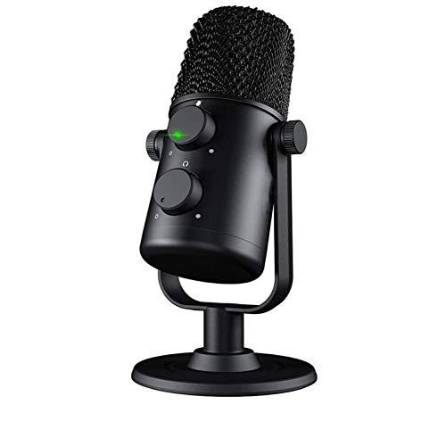 HYLEI Micrófono de Condensador Cardioide Sreaming Mic Grabación de Metal Microfone