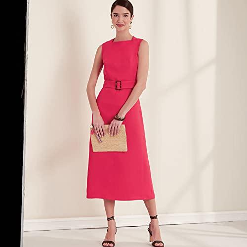 New Look Sewing Pattern N6667 Misses' Dress N6667-Cartamodello per abito da donna, bianco, A (8-10-12-14-16-18-20)
