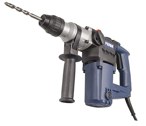 FERM HDM1028 Rotary Hammer 850W - Side Handle - Drilling, Hammer Drilling, Chiselling - Incl. 3X SDS Plus Drills and 2X SDS Plus chisels