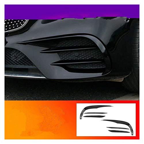 XHSM para Benz Clase E W213 2016-2019 Rejilla Listones Luces Pegatina Tiras Decorativas Estilo De Coche Cubierta De Lámparas Antiniebla Delanteras Partes (Color : Piano Black, Talla : E63)
