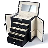 Best Kendal Jewelry Boxes - Kendal Large Leather Jewelry Box Case Storage Review