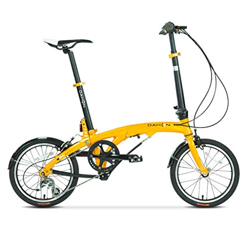 Fantastic Prices! Folding Bikes Bicycle Folding Bicycle 16 Inch Variable Speed Aluminum Alloy Unisex...