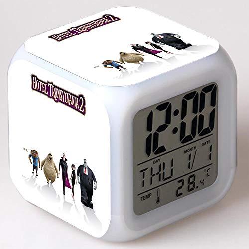 Wizard Hostel Alarm Clocks Kids LED Clock Cartoon Night Light Flash 7 Color Changing Digital Clock Electronic Desk Clock,Style 19, Birthday