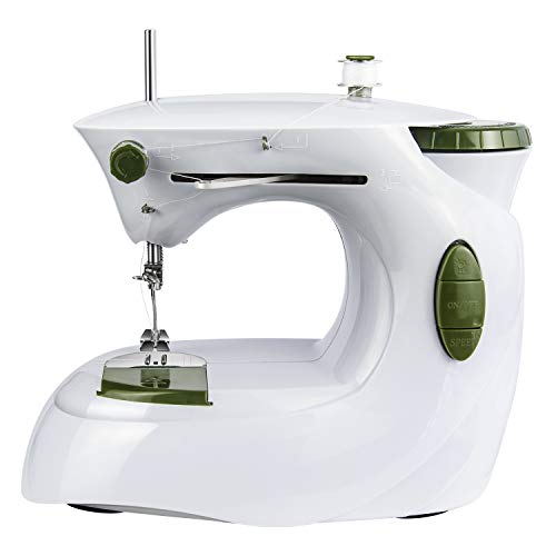 Heartybay 0201 Mini Sewing Machine, Portable Sewing Machine for Beginners & Professionals, 2-Speed with for Multi-Purpose Crafting Mending
