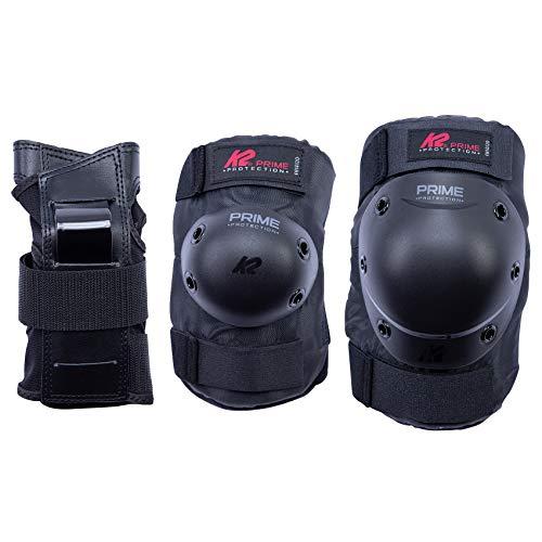 K2 Skates Herren PRIME PAD SET M, black-red, L (Knee: A:42-46cm B:37-40cm / Elbow: A:28-31cm B:27-30cm / Wrist: A:23-25cm B:20-22cm)