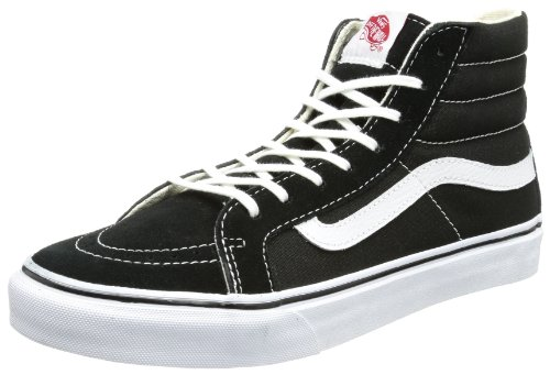 Vans Unisex-Erwachsene U SK8-HI Slim True Whit Low-top, Schwarz (Black), 37 EU