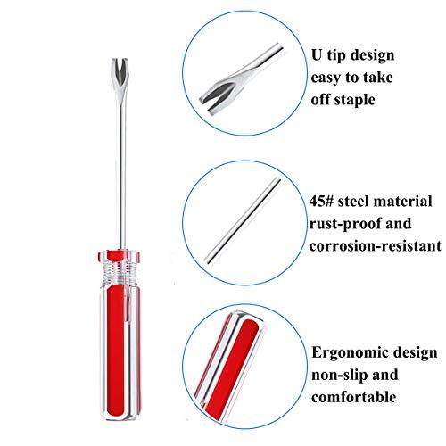 Terberl 4 Pack Tack Lifter Tack Puller Nail Puller, U Tip Nail Staple Rivet Staple Puller Staple Remover Tool