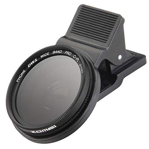 ZoMei 37 mm professioneller CPL-Objektivfilter mit Clip für iPhone 6 6S Plus Samsung Galaxy S8 Android Smartphone