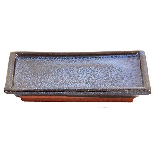 Bonsai - Untersetzer eckig 14,5 x 9,5 cm, blau 53357