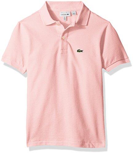Lacoste Big Boys' (l1812) Short Sleeve Classic Pique Polo Shirt, Flamingo, 12