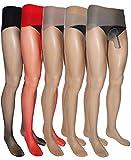 Ultra Sheer Seamless Mens Pantyhose (10 Denier) (Nude, Closed Sheath)