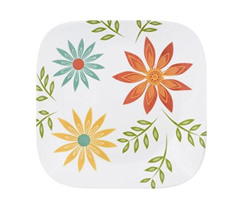 Corelle Square 10.25' Dinner Plate Happy Days, Set of 6