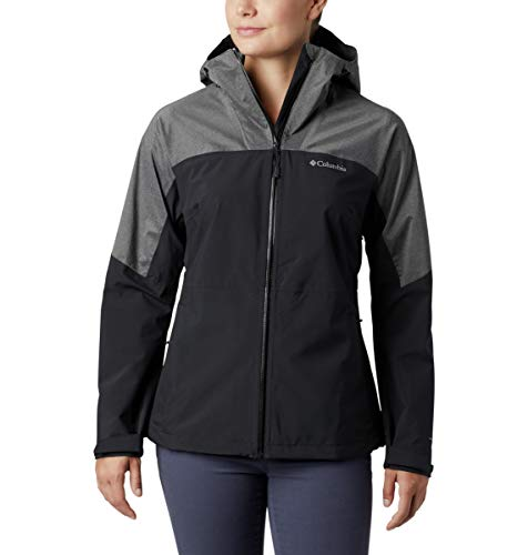Columbia Women's Evolution Valley II Jacket, Waterproof & Breathable, Medium, Black/Charcoal Heather
