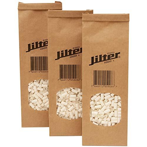 Jilter Zigarettenfilter 1'000 Stk I Familienpackung im Bio-Beutel I Durchmesser 6 mm I aus Zellulose