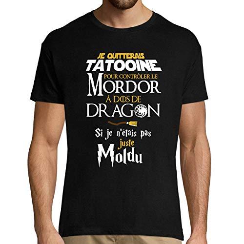 Closset Tatooine | Seigneur des Anneaux | Dragons | Moldus | T-Shirt Homme col Rond Humour Geek XL