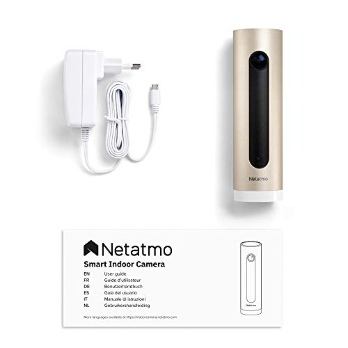 Netatmo Smarte Überwachungskamera Innen, Wlan, Bewegungserkennung, Nachtsicht, Ohne Abonnement, NSC01-EU (Welcome)