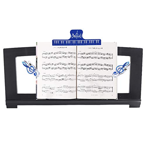 CELYST Music Stand for Sheet Music, Yamaha Music Sheet Stand Fit for Multiple Keyboard Models, Stable and Durable, Keyboard Sheet Music Stand with 3 Music Book Clip, Perfect Size(Length:18.5in)