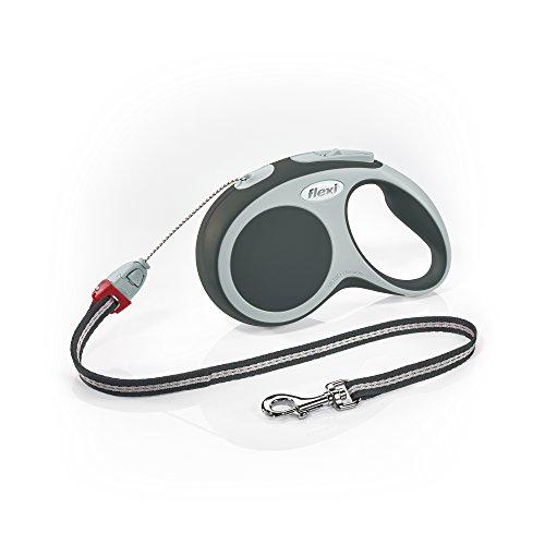 flexi Roll-Leine Vario S Seil 8 m anthrazit für Hunde bis max. 12 kg