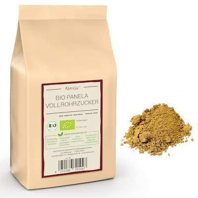 1kg di zucchero Panela BIO: zucchero di canna integrale non trattato proveniente dalla Colombia, senza additivi - confezione che rispetta l'ambiente