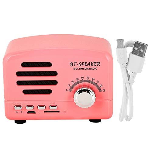 Luidspreker, Bluetooth-luidspreker, Mini-formaat Bluetooth-luidspreker, USB-oplader Portable Outdoor SoundBox, eenvoudig en elegant, compact en lichtgewicht(Roze)