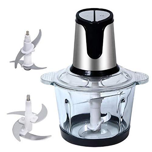 CTEGOOD Picadora de Carne Eléctrica 3L Control de Doble Engranaje Cuchillas de...
