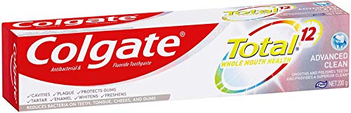 Colgate Total Advanced Clean Antibacterial Toothpaste, 200g, Whole Mouth Health, Multi Benefit