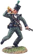 British 95th Rifles Bugler Advancing #1, Napoleonic Wars Toy Soldier, W. Britain 36045