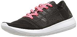 adidas Women's Element Refine Tricot Running Shoes, Noir Core Black / Flash Red, 41 1 / 3 EU