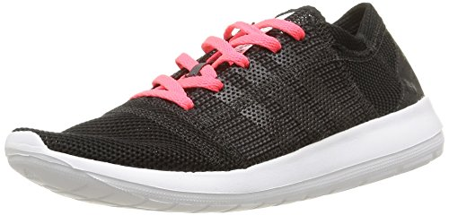 adidas Element Refine Tricot Damen Laufschuhe, Noir (Core Black/Core Black/Flash Red), 36 EU