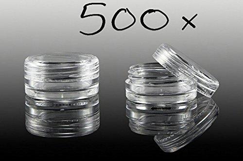 NEW Nail Art 500 x contenants avec fermeture à vis Transparent 3 ml vide, boîte de rangement Lot de boîtes Accessoires
