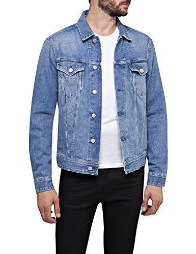 Replay Herren M301 .000.108 686 Jeansjacke, Blau (Light Blue 10), Large (Herstellergröße: L)