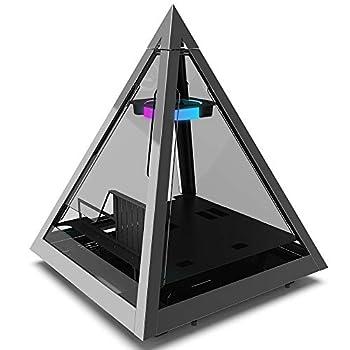 Azza CSAZ-804V Pyramid Innovative PC Case W/RGB Fan Black