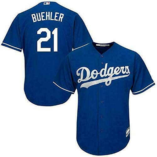 Outerstuff Walker Buehler Los Angeles Dodgers MLB Boys Youth 8-20 Player Jersey (Blue Alternate, Youth Medium 10-12)
