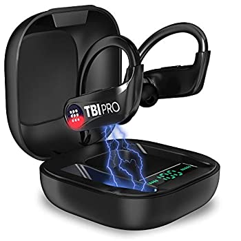 PowerPro Sport 5.0 Bluetooth Headphones - 50 Hours HD Stereo Earphones - Powerbeats Pro Style TWS Totally Wireless Earbuds IPX7 Waterproof in-ear Buds with Best Mic for iPhone Running Gym Exercise