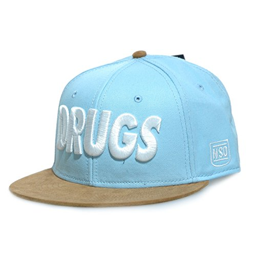 Space Monkeys - Casquette Strapback Homme Drugs Snapback Cap - Blue