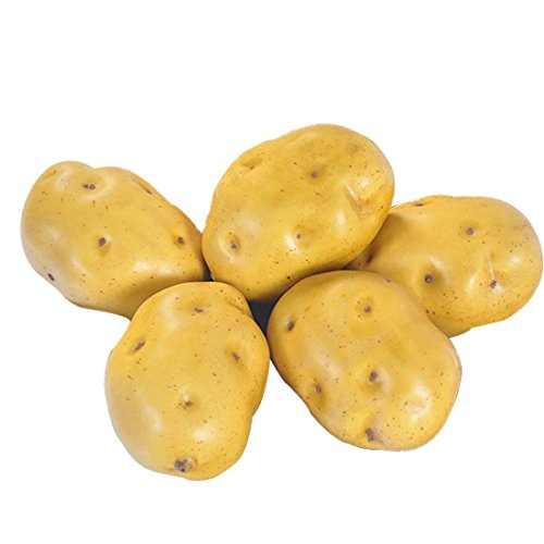 Lorigun Foam Gefälschte Kartoffeln Simulation Blase Obst & Gemüse Emotion Arrangement Szenen Requisiten Simulation Potato X 5Pcs