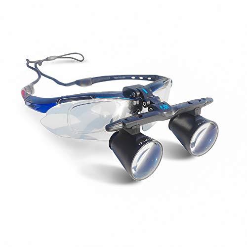 GoDen 2.5X/3.5X拡大鏡 双眼ルーペ FD-501G メガネ式 眼鏡式 軽量 距離調整可能 (2.5倍)